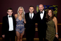 Gary Barlow with Alan Shearer & Family
